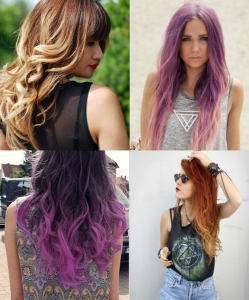 Ombre Hair collage