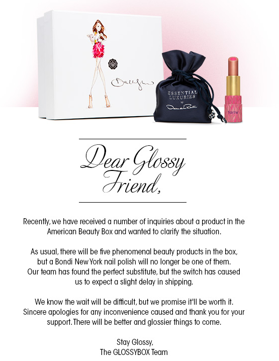 GlossyBox Letter