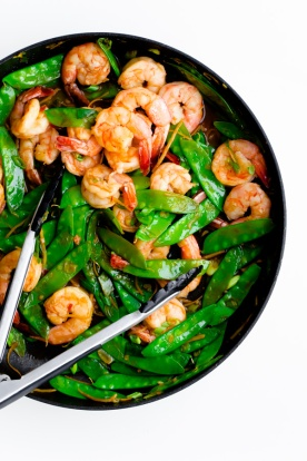 shrimp-snow-pea-and-ginger-stir-fry