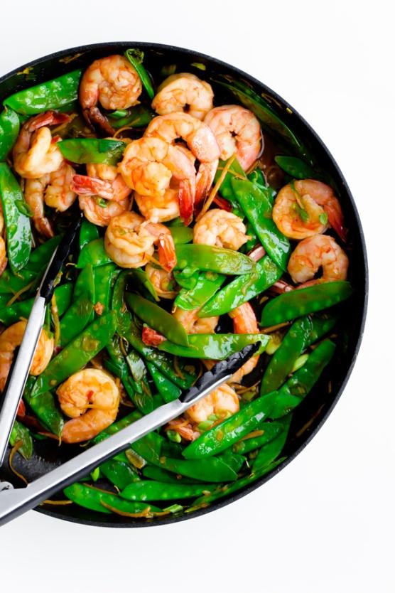 shrimp-snow-pea-and-ginger-stir-fry