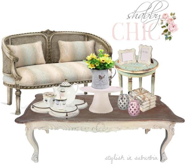 Shabby Chic Coffee Table Decor